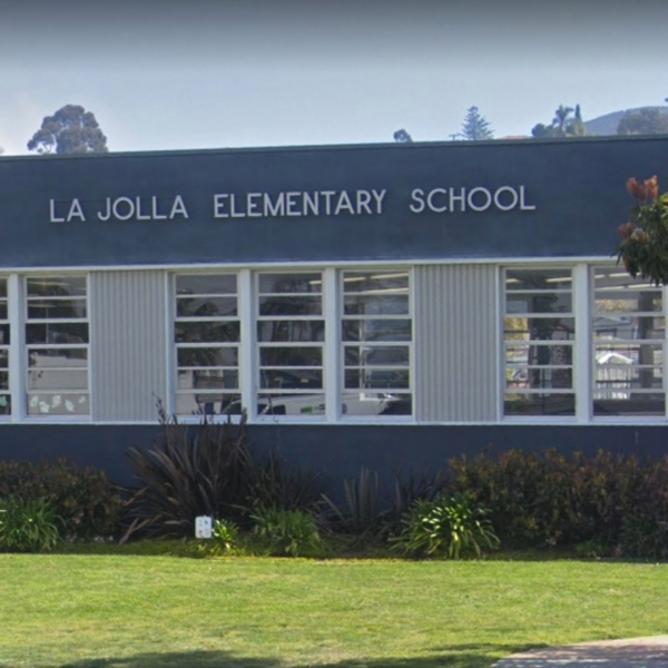 La Jolla Elementary School is seen in this Google Maps street image.