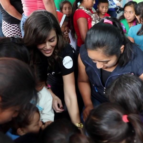 Megan Henderson visited Guatemala with UNICEF in October, 2018. (Credit: KTLA)
