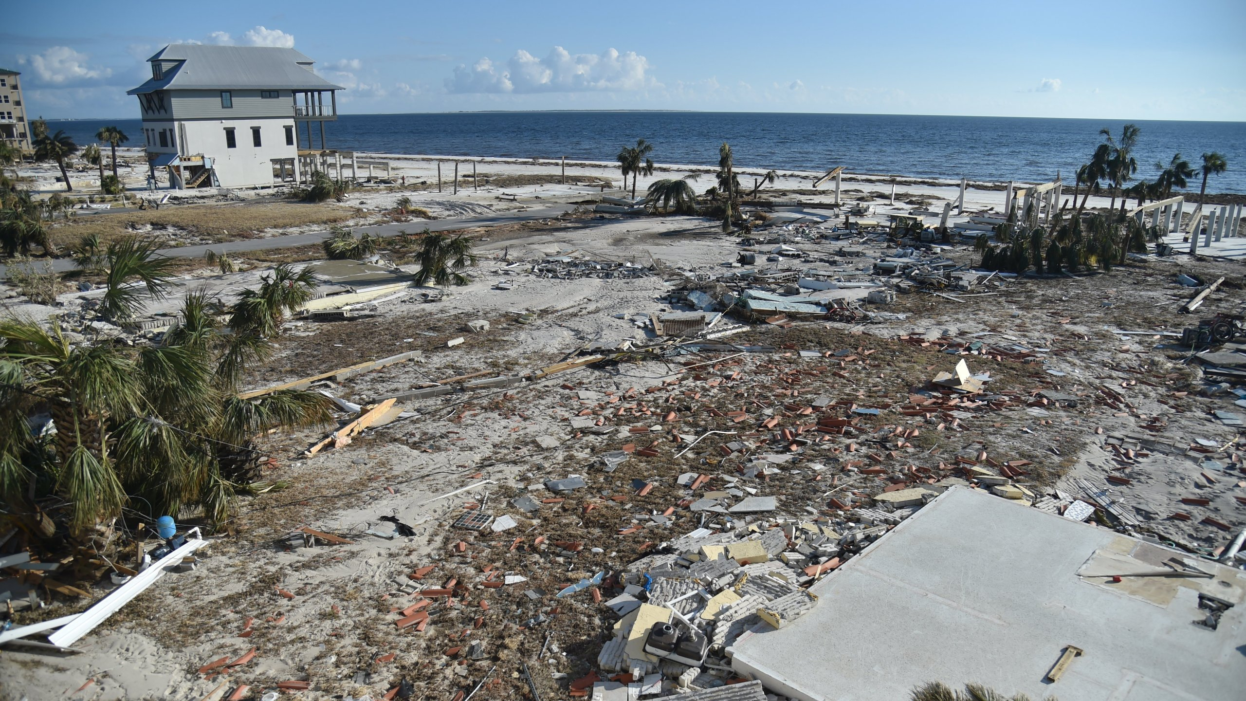 Many of the coastal houses in Mexico Beach, Florida, have been obliterated. (Credit: CNN)