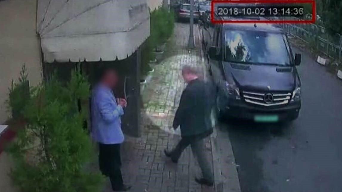 CCTV image of the missing Saudi Journalist Jamal Khashoggi entering the Saudi consulate on Oct 2. (Credit: CNN)