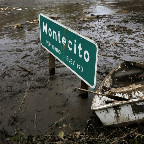 Less than a year after mud and debris flows devastated Montecito, officials are warning that recent wildfires have increased the risk of flooding. (Credit: Katie Falkenberg / Los Angeles Times)