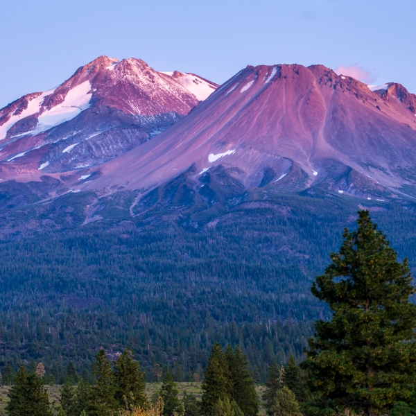 Mount Shasta is seen in a file photo. (Credit: iStock / Getty Images Plus)
