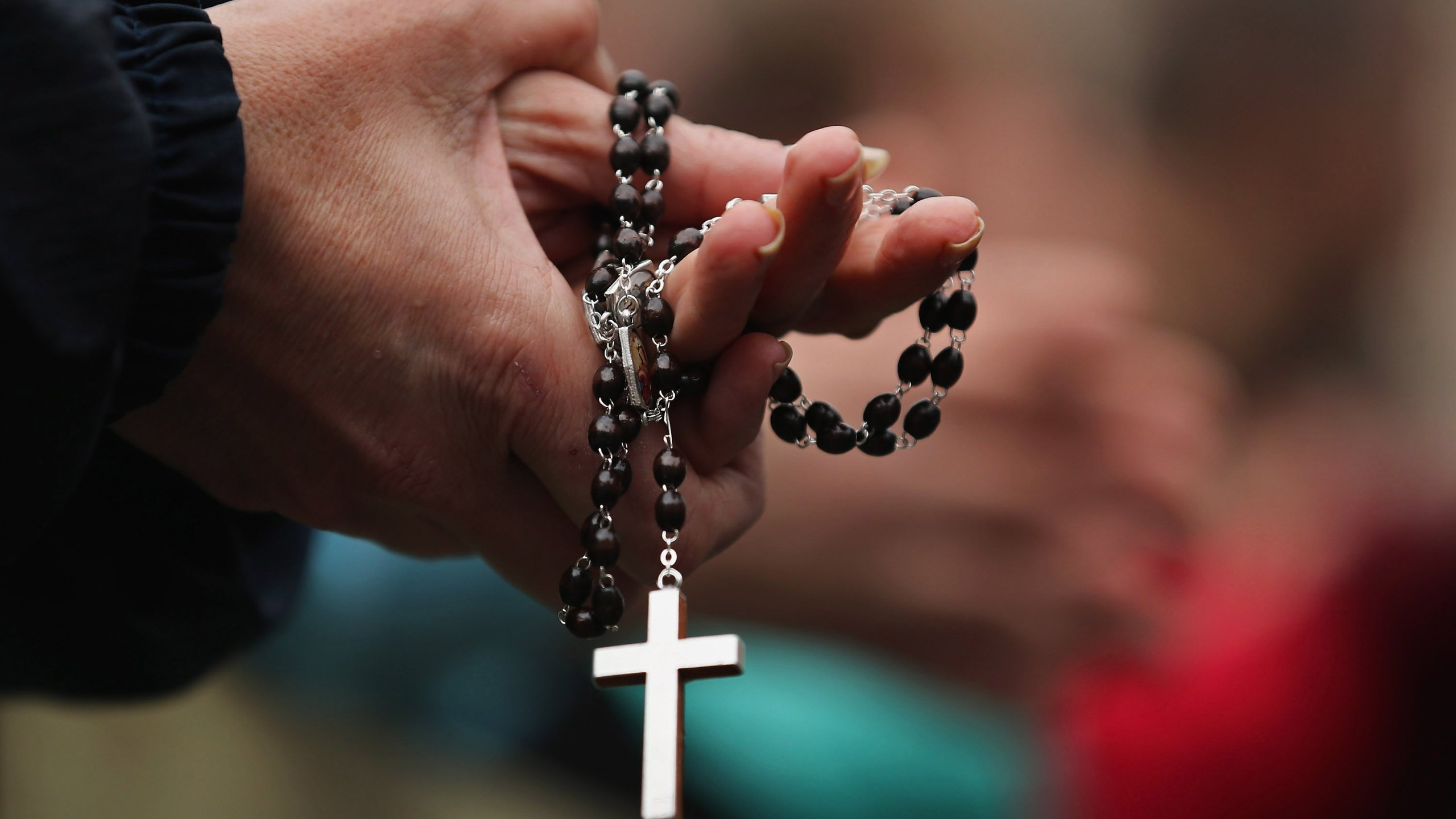 A rosary is shown in an undated file photo. (Credit: Dan Kitwood/Getty Images)