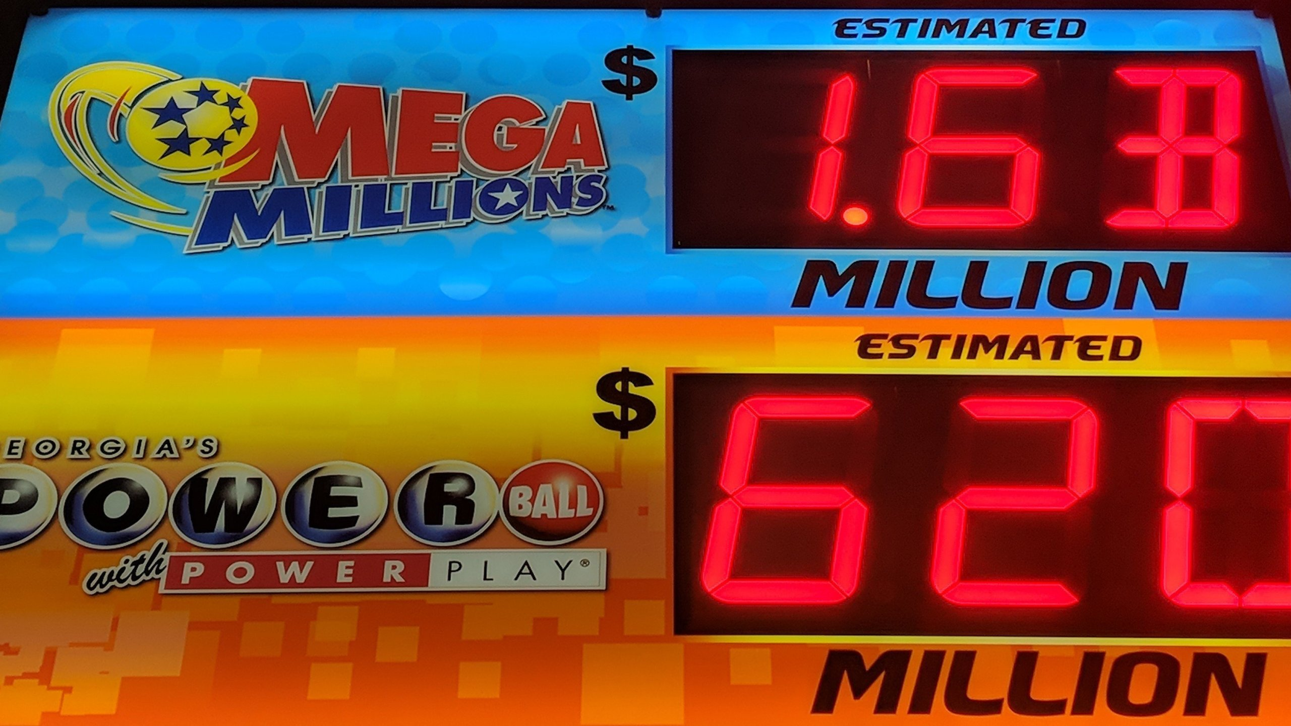 The Mega Millions and Powerball jackpots total a combined amount of more than $2.2 billion as of the morning of Oct. 23, 2018. (Credit: CNN)