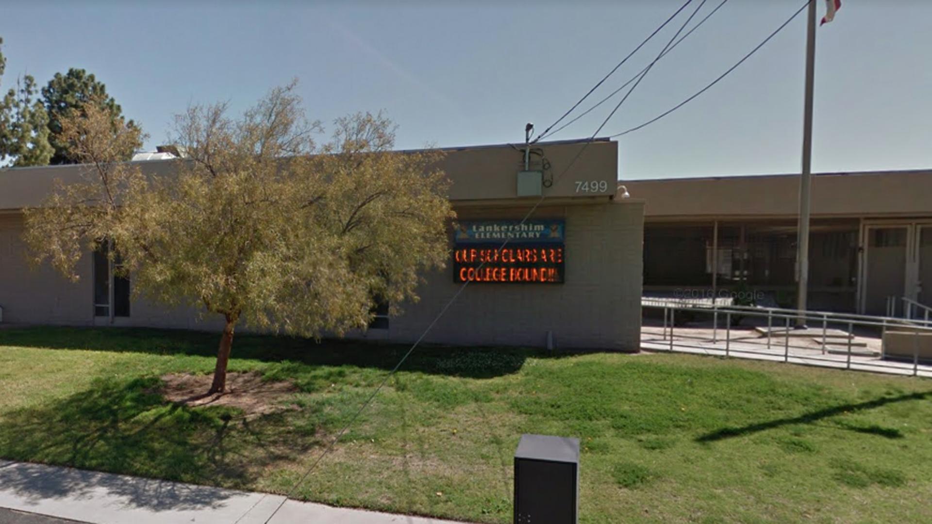 Lankershim Elementary School in San Bernardino is seen in a Google Maps street view image.