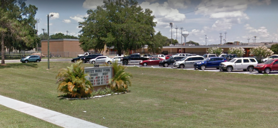 A Google Maps image shows Bartow Middle School in Bartow, Florida.