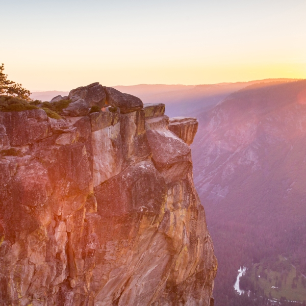 View of sunset from Taft Point during Summer, Yosemite National Park. (Credit: iStock / Getty Images Plus)