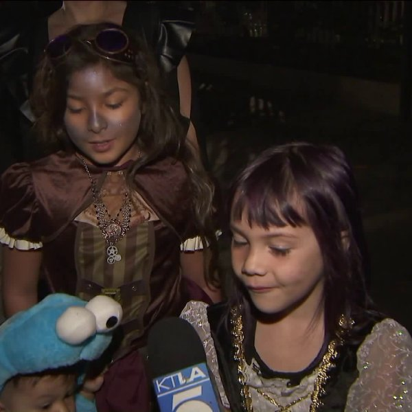 A Toluca Lake neighborhood goes all out for Halloween on Oct. 31, 2018.
