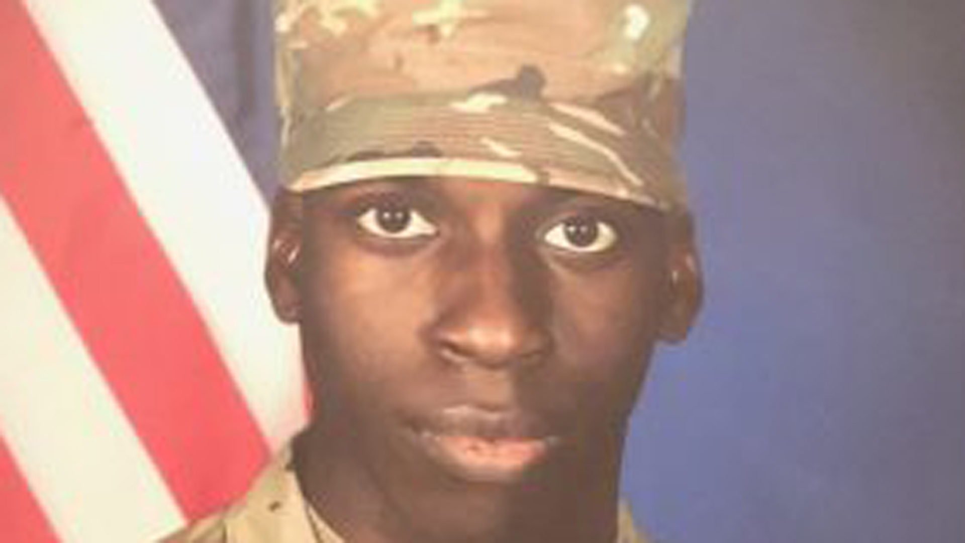 File photo of Emantic Fitzgerald Bradford Jr., known as E.J., dressed in basic training Army fatigues. The photo was released by the family attorney, Benjamin L. Crump. Bradford Jr. said on his Facebook page he was a US Army combat engineer. An Army spokesman told CNN he never completed advanced individual training and did not officially serve in the Army. (Credit: CNN)