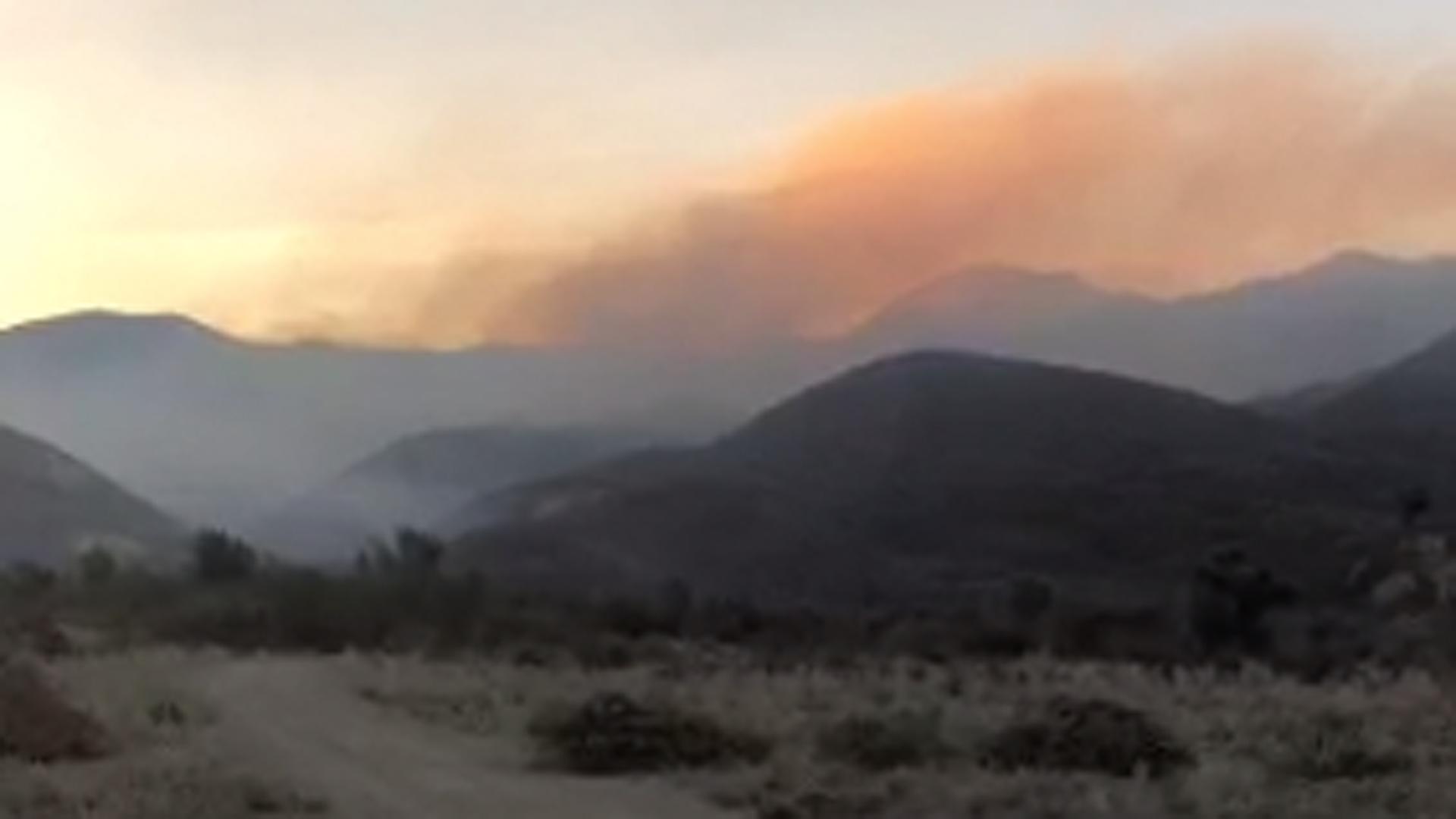 The Briggs Fire burns near Santa Paula on Nov. 15, 2018. (Credit: Ventura County Fire Department)