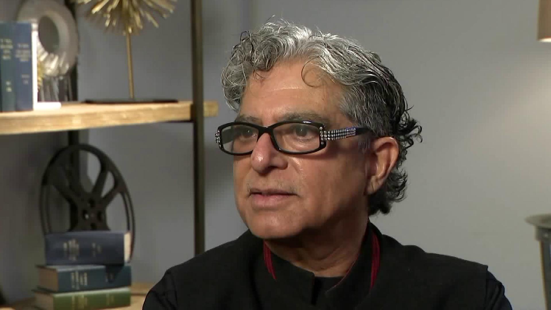 Deepak Chopra speaks with Christina Pascucci for the KTLA 5 News on Nov. 20, 2018. (Credit: KTLA)