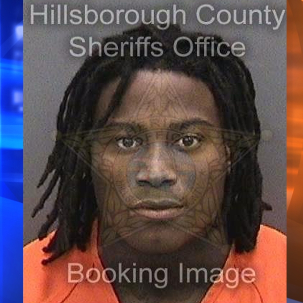 Reuben Foster, linebacker for the San Francisco 49ers arrested on suspicion of domestic violence, is seen in this photo released by the Hillsborough County Sheriff's Office. (Credit: CNN)