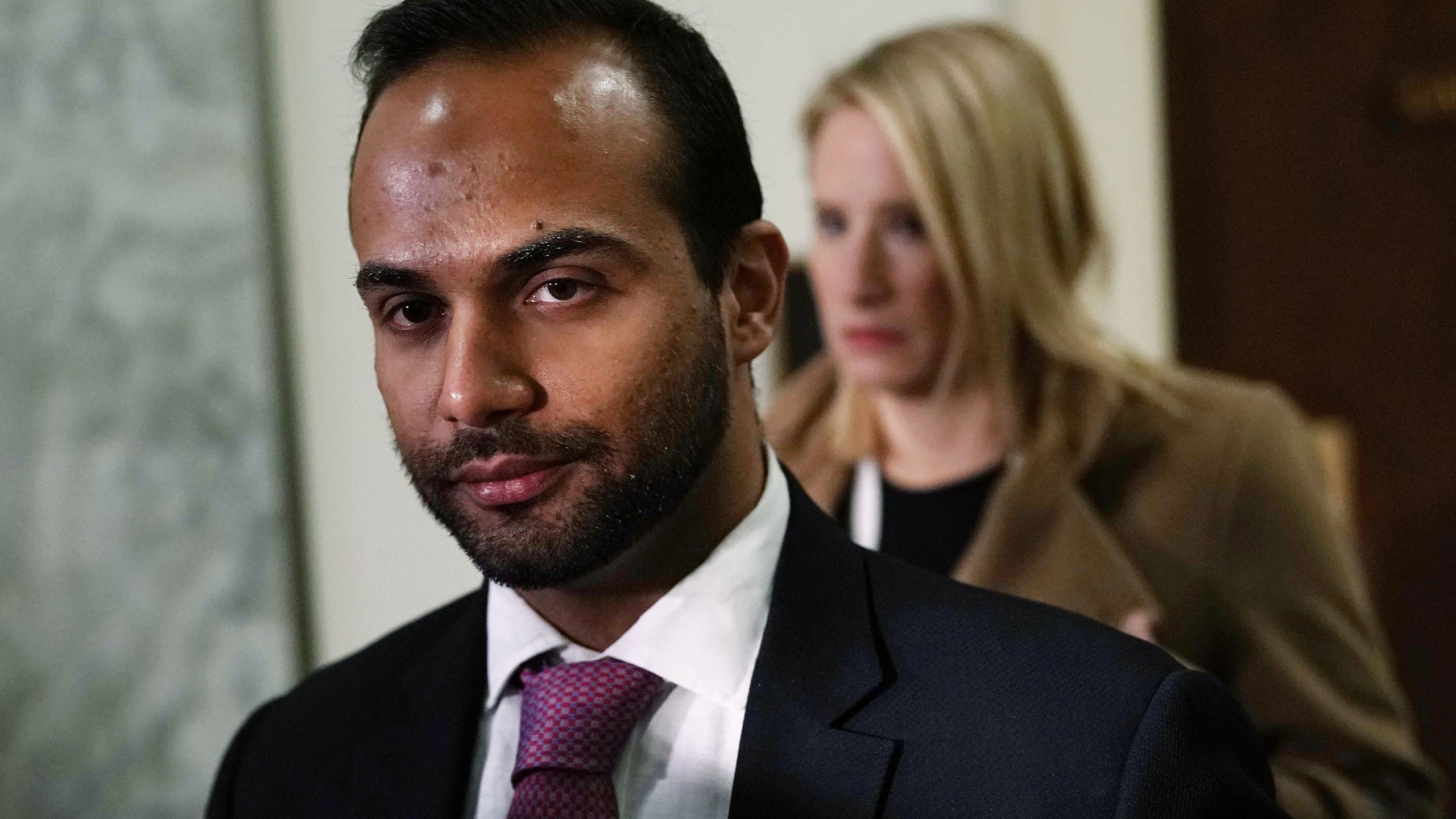 Former Trump campaign adviser George Papadopoulos arrives at a closed-door hearing before the House Judiciary and Oversight Committee on Oct. 25, 2018. (Credit: Alex Wong/Getty Images)