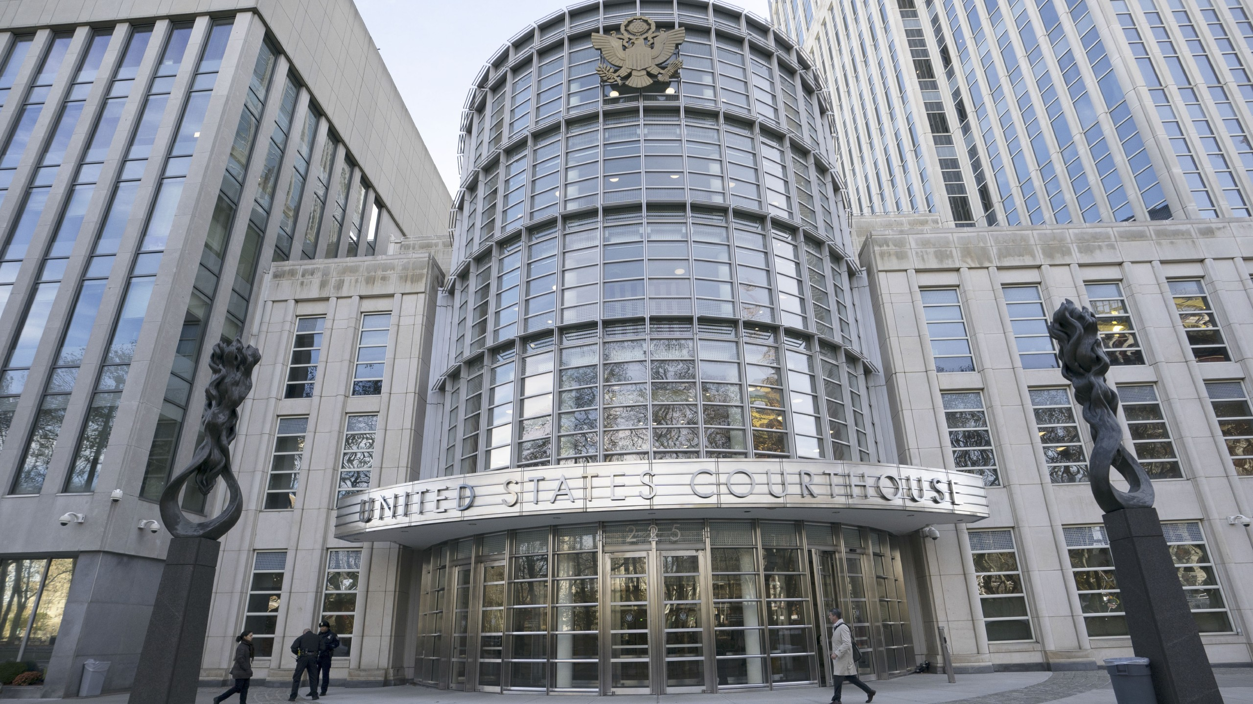 "The Brooklyn Federal Courthouse is viewed as the trial of Joaquin ""El Chapo"" Guzman takes place inside on Nov. 14, 2018. (Credit: Don Emmert / AFP / Getty Images)"
