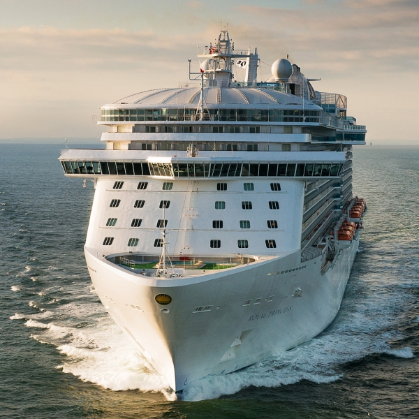 The Royal Princess is shown in a file photo from Princess Cruises. (Credit: Princess Cruises via Getty Images)