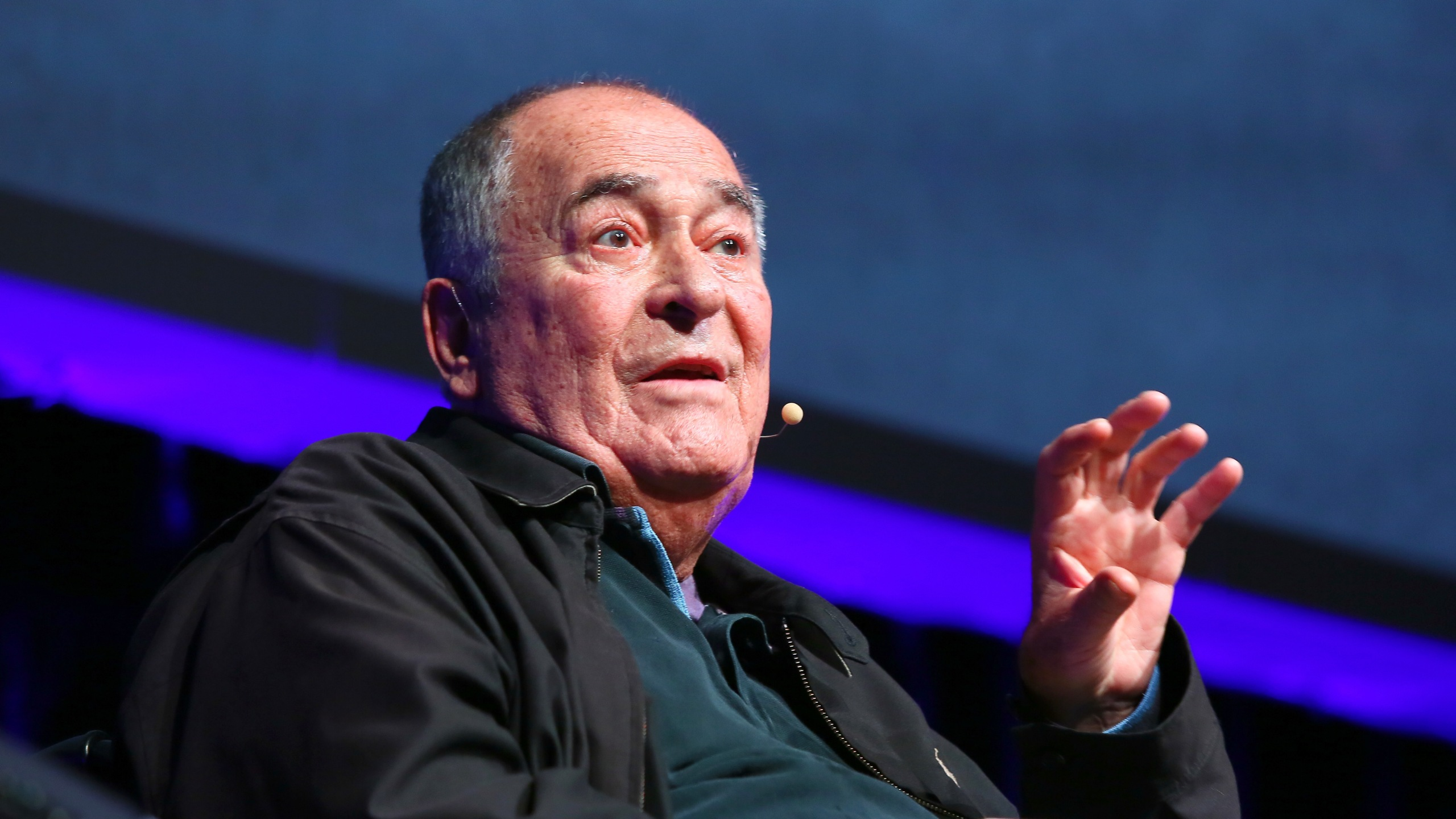 Bernardo Bertolucci meets the audience during the 11th Rome Film Festival at Auditorium Parco Della Musica on Oct. 15, 2016. (Credit: Ernesto Ruscio/Getty Images)