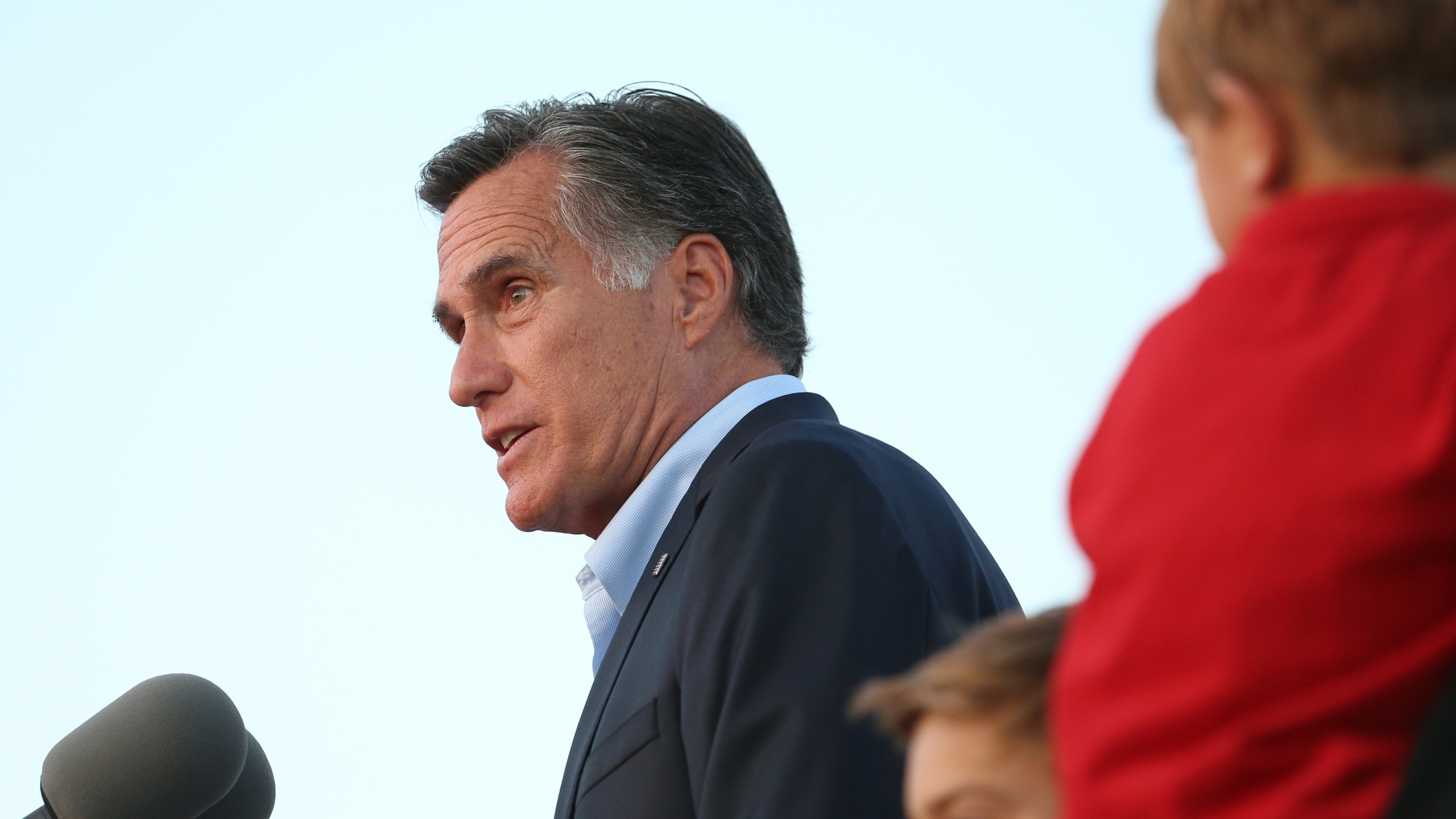 Mitt Romney speaks to supporters after declaring victory in his Senate primary race on June 26, 2018, in Orem, Utah. (Credit: George Frey / Getty Images)