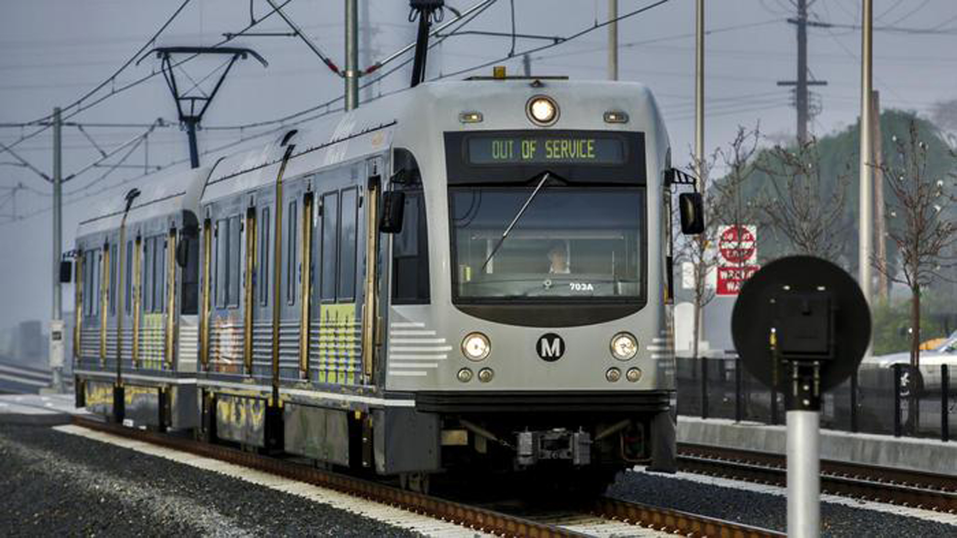 A Metro Gold Line train is seen in a file photo. (Credit: Irfan Khan / Los Angeles Times)