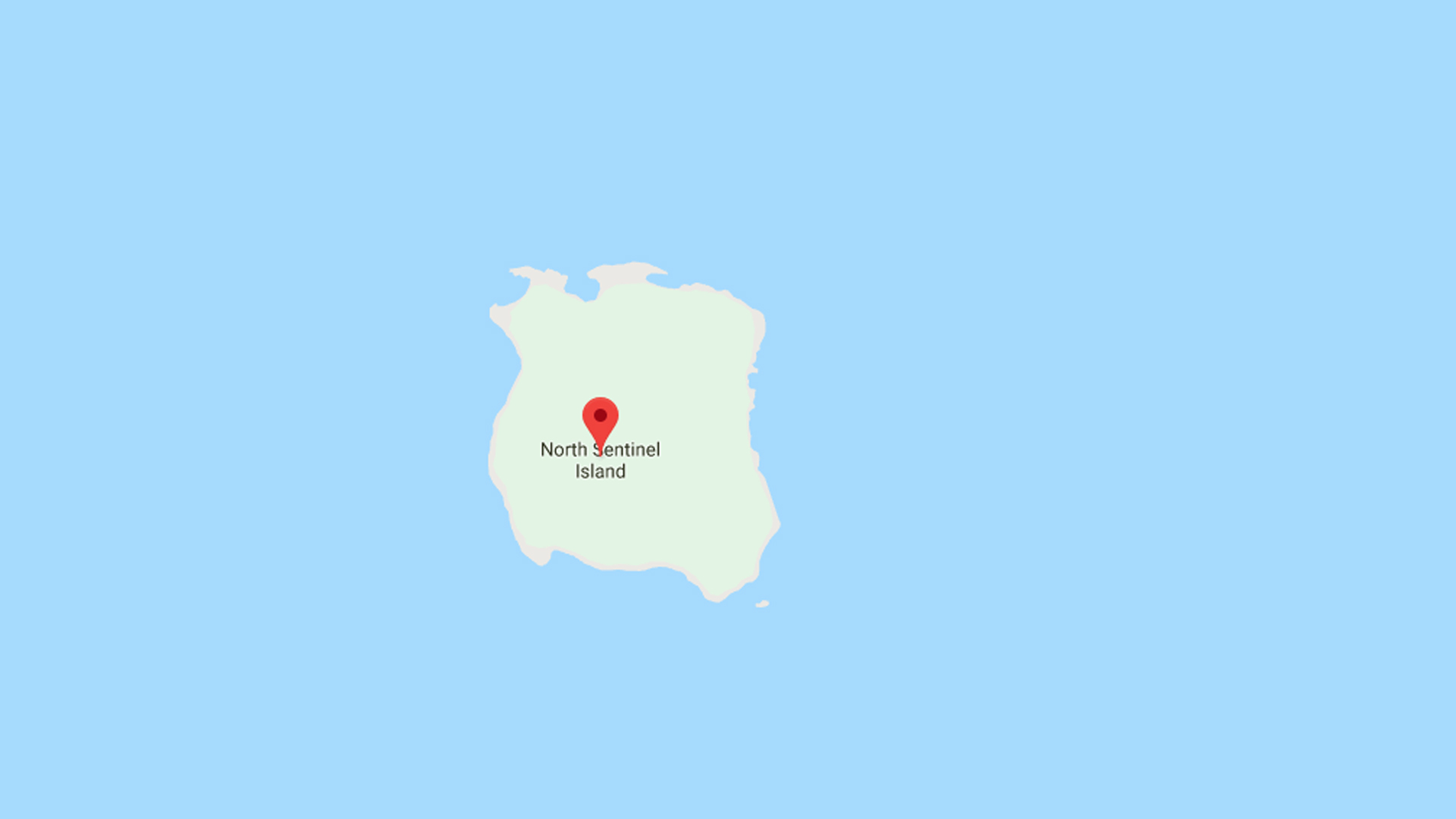 North Sentinel Island is shown in Google Maps.