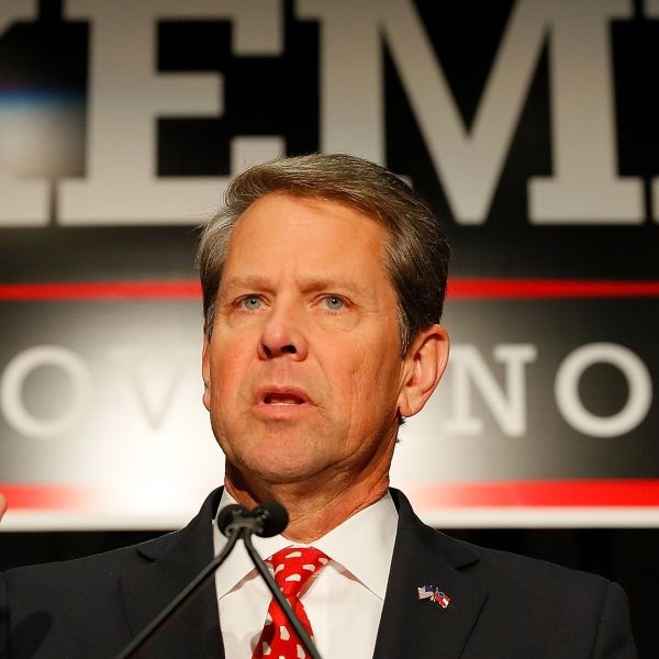 Republican gubernatorial candidate Brian Kemp attends the Election Night event at the Classic Center on November 6, 2018 in Athens, Georgia. (Credit: Kevin C. Cox/Getty Images)