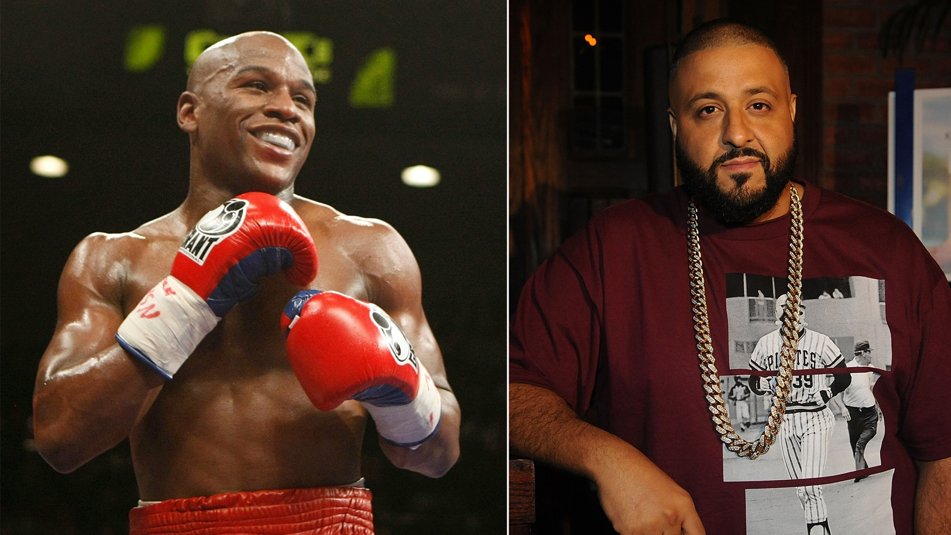 The SEC charged Floyd Mayweather Jr. (left) and DJ Khaled with cryptocurrency fraud. (Credit: Ethan Miller/Getty Images, Brad Barket/Getty Images for UrbanDaddy)