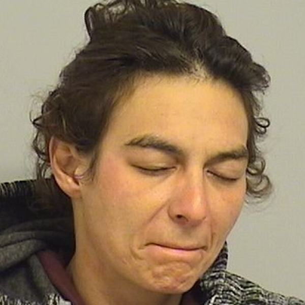 Lyza Vagin is seen in a booking photo released by Tulsa police.