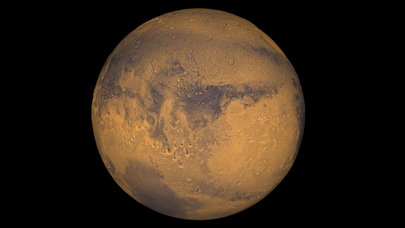 Mars, pictured in a true color, undated photo provided by NASA.