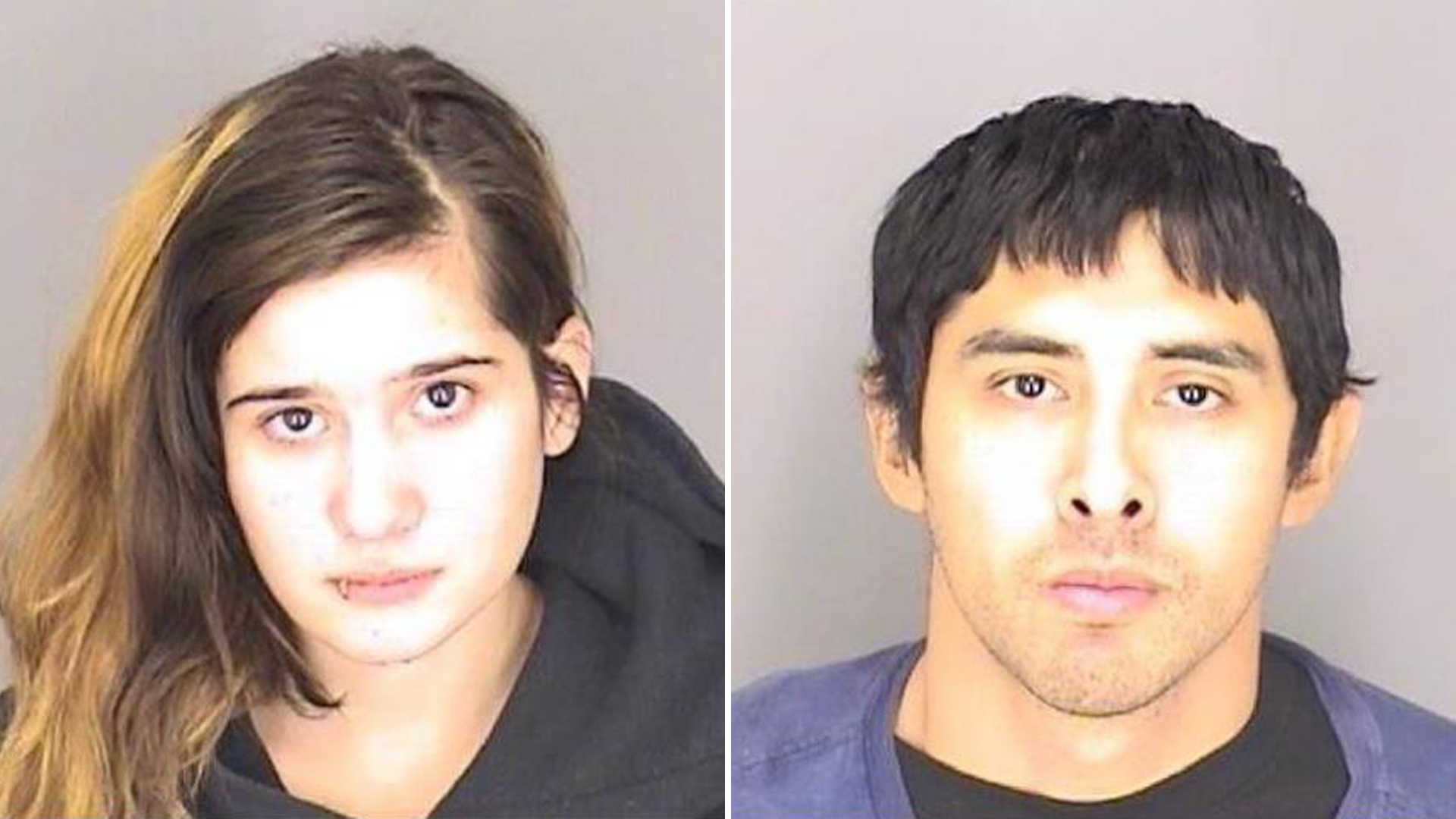 Chanish Conrady and Steven Perez Jr. in photos released by the Merced County Sheriff's Office on Nov. 21, 2018.