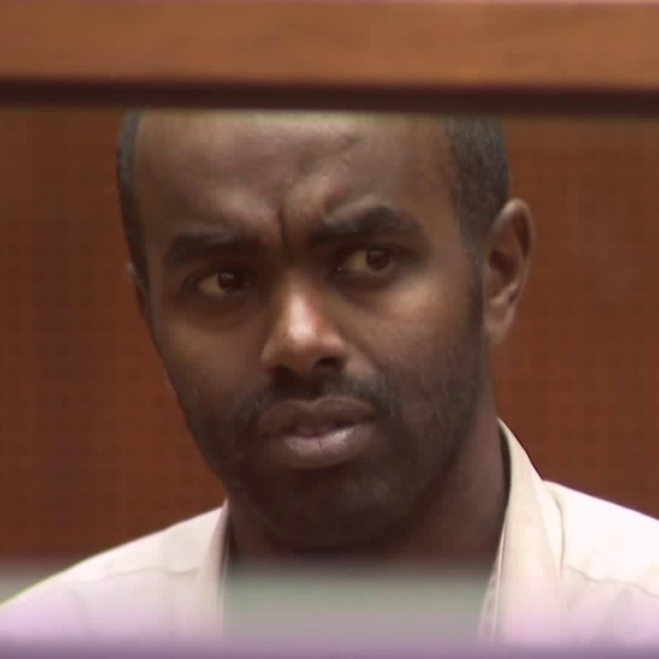 Mohamed Abdi Mohamed, 32, during his arraignment on Nov. 27, 2018, in Los Angeles. (Credit: KTLA)