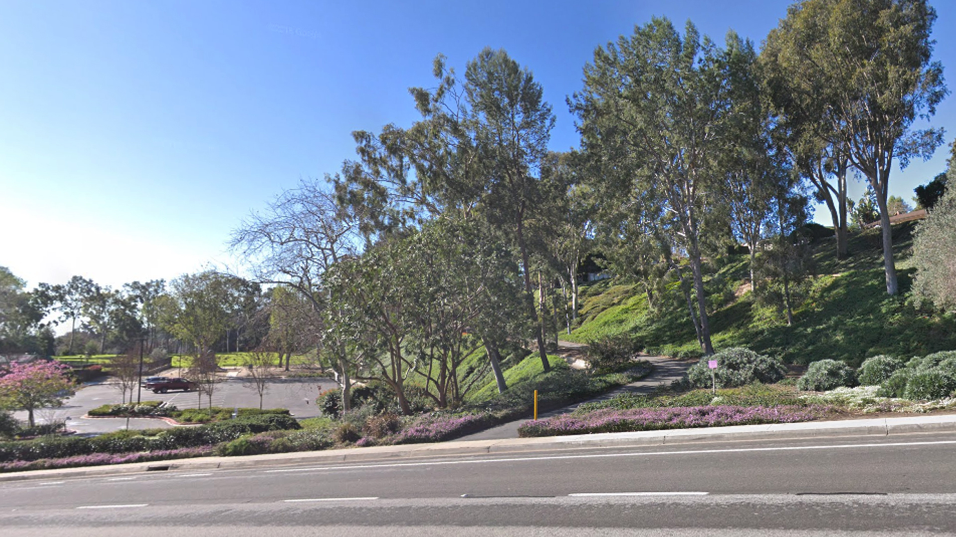 The parking lot of Niguel Woods Park in Laguna Niguel is seen in a Google Maps Street View image from February 2018.