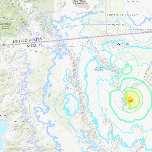 An earthquake struck Baja California, Mexico, on Nov. 19, 2018. (Credit: U.S. Geological Survey)