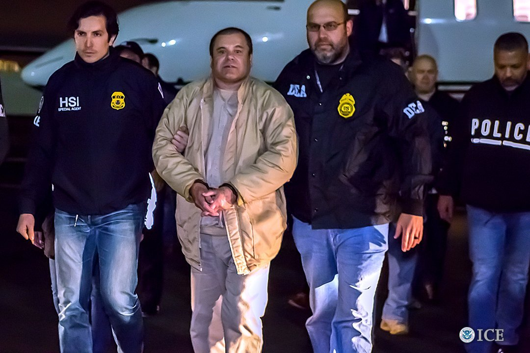 "Nearly two years after his extradition from Mexico, notorious cartel boss Joaquin ""El Chapo"" Guzman Loera faces an American jury in the most significant criminal trial in decades. (Credit: Getty Images)"