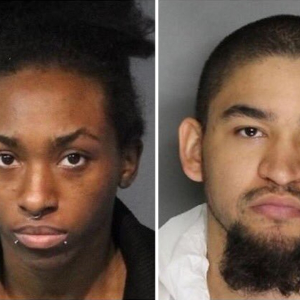 Averyauna Anderson, left, and Tyler Anderson are seen in booking photos obtained by KTXL.