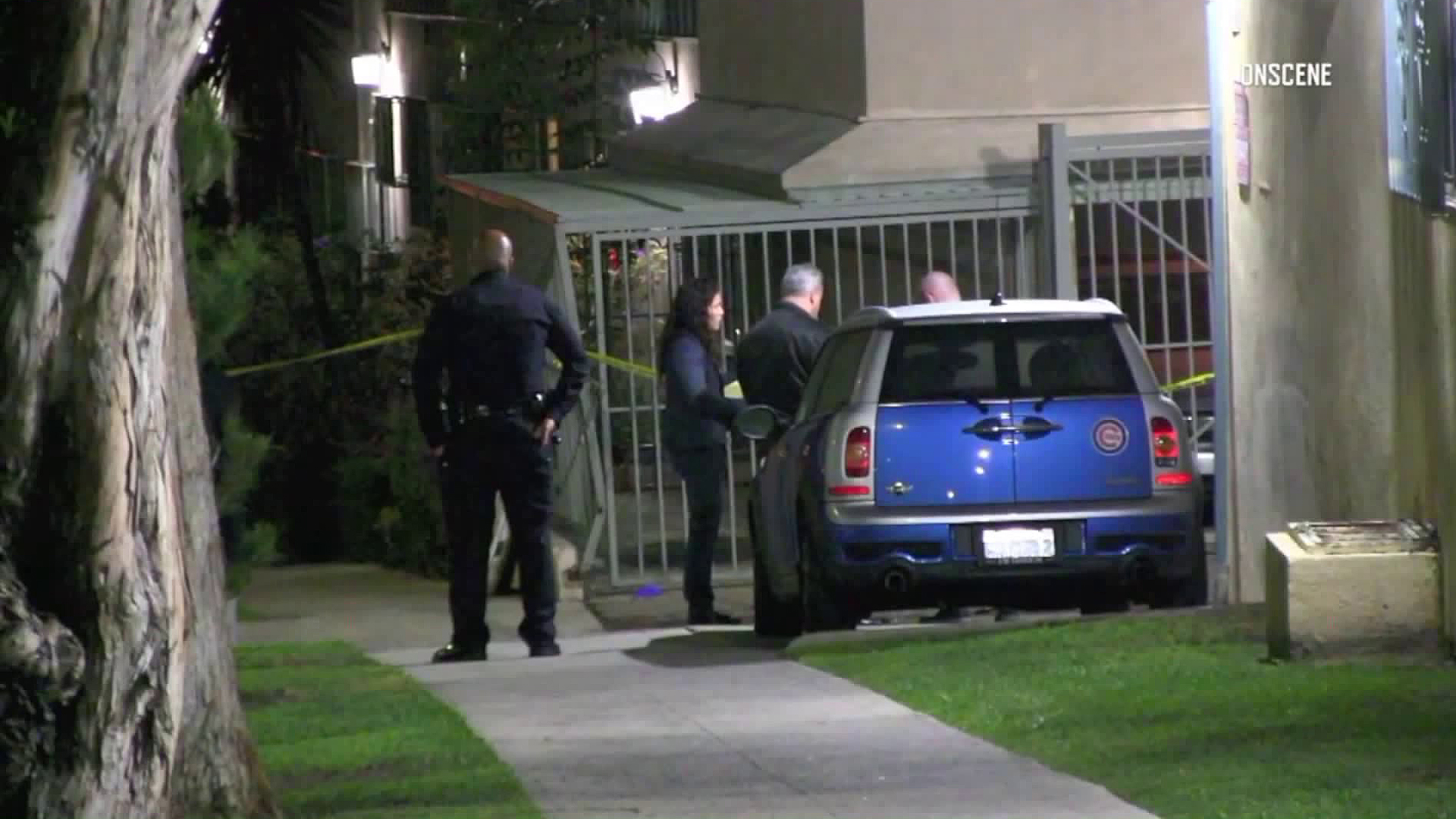 Police investigate a fatal stabbing in Baldwin Hills on Nov. 22, 2018. (Credit: OnScene)