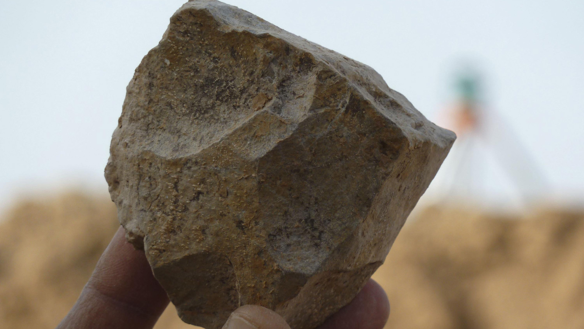 About 250 stone tools were found in Algeria, and the discovery calls into question the long-held theory that humanity emerged in East Africa. (Credit: Mohamed Sahnouni/AFP/Getty Image)