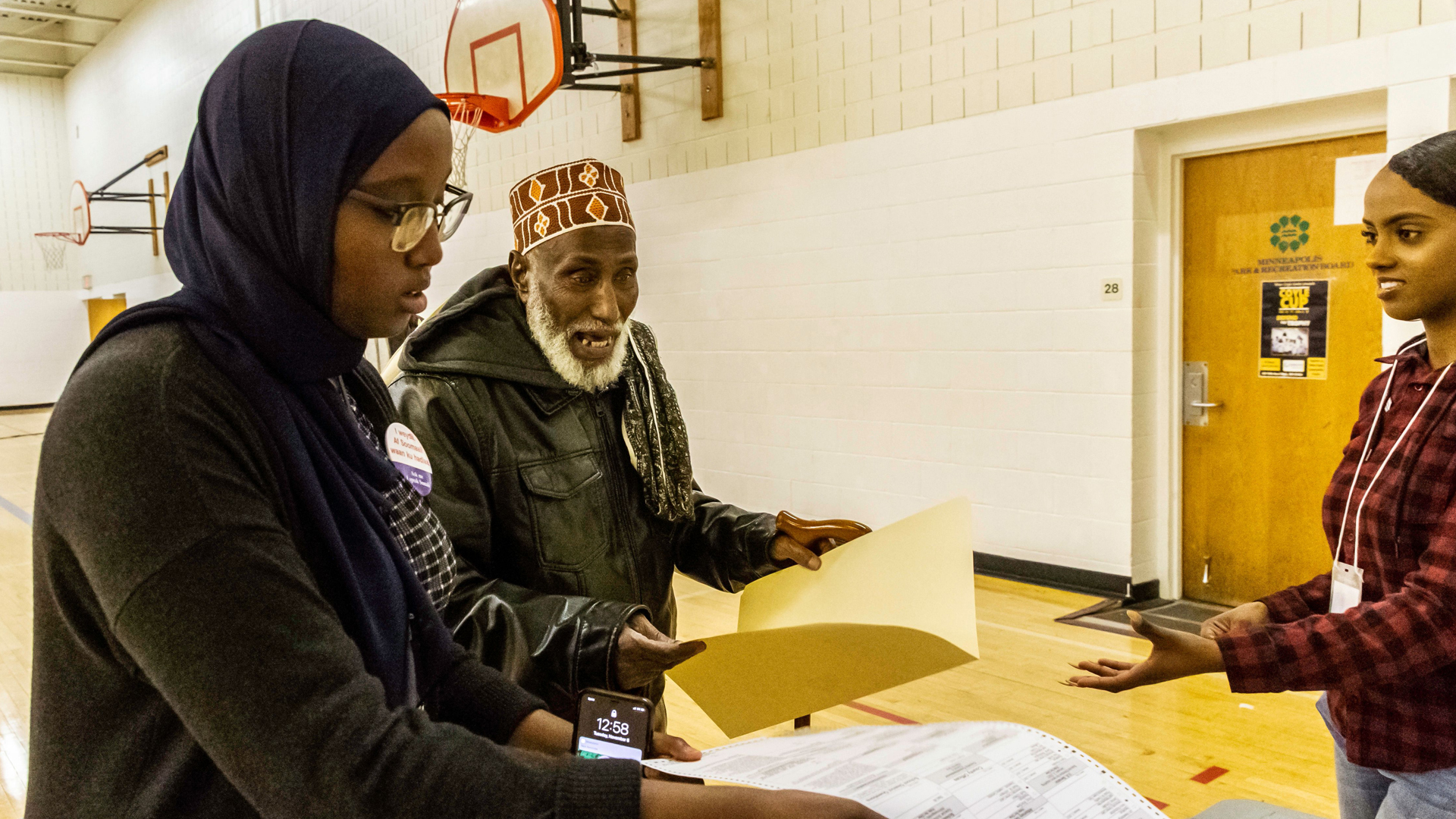 Voters cast ballots at a polling station in Minneapolis on Nov. 6, 2018. (Credit: KEREM YUCEL/AFP/Getty Images)