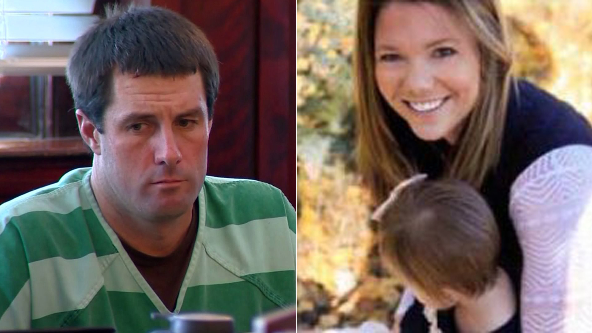 Left: Patrick Frazee is seen in court on Dec. 31, 2018. (Credit: KDVR); Right: Kelsey Berreth is seen in an image provided by the Woodland Park Police Department.