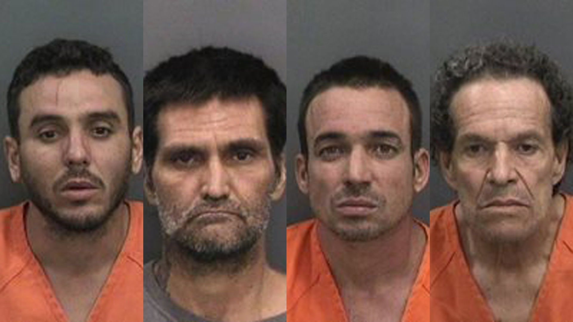 From left: Lemuel Escobar, Alberto Obaya, Humberto Ramirez, and Vidal Estrada. (Credit: Hillsborough County Sheriff's Office)