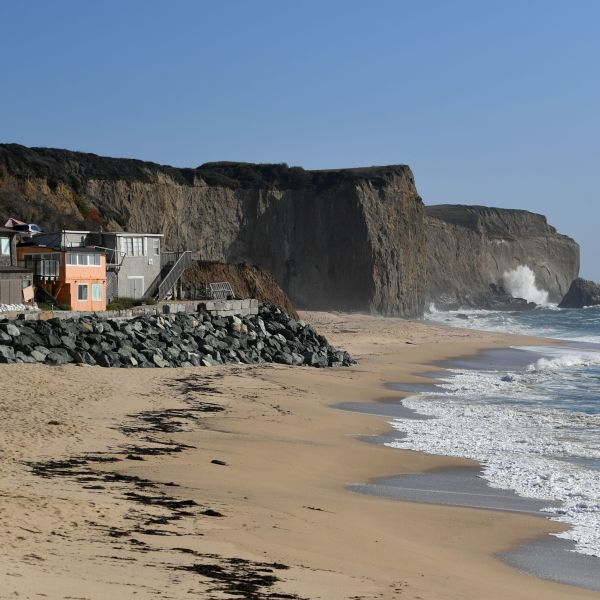 Martin's Beach is seen in Half Moon Bay, Calif. on Sept. 19, 2018. (Credit: JOSH EDELSON/AFP/Getty Images)
