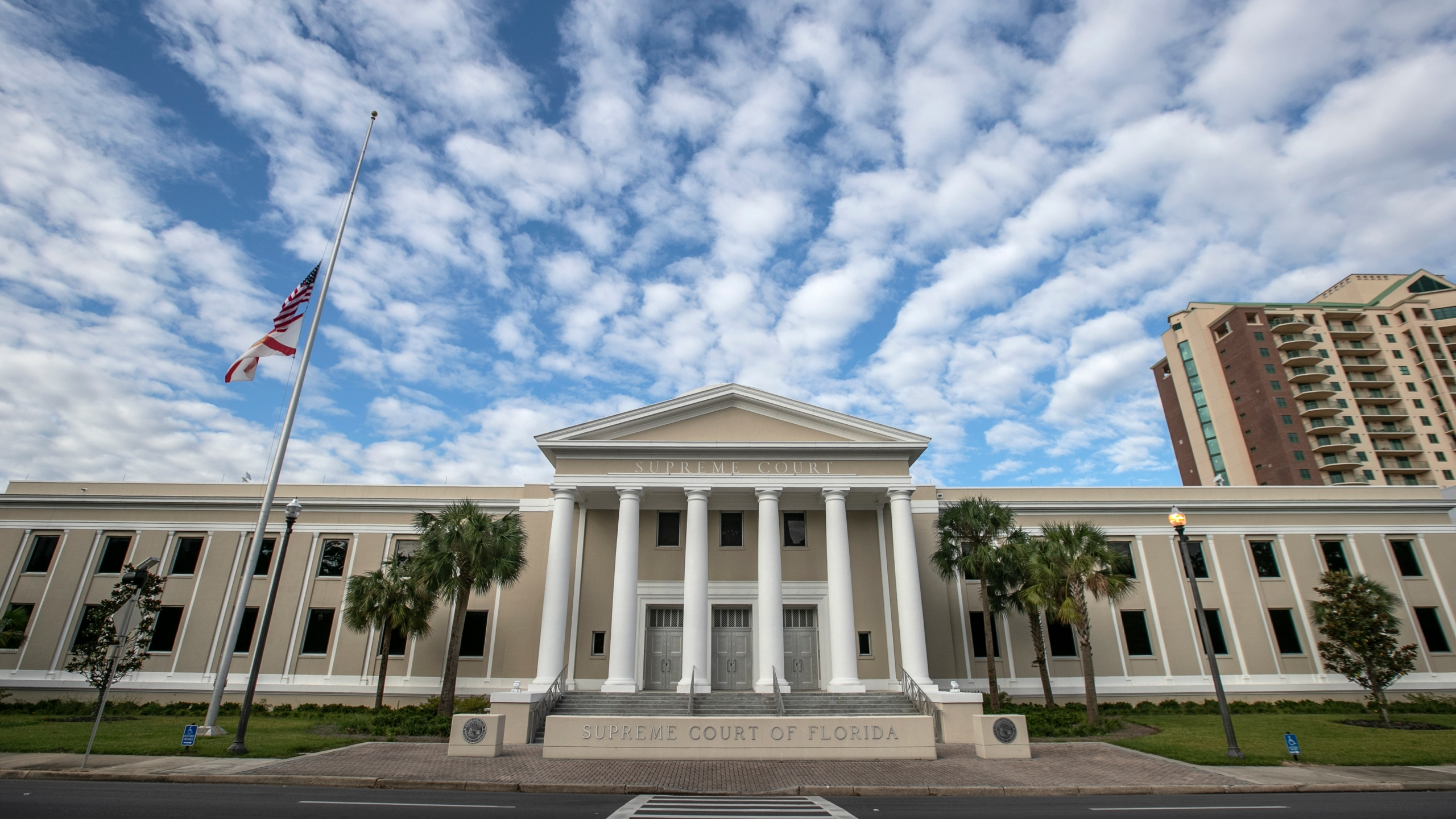 The Florida Supreme Court building is pictured on Nov. 10, 2018 in Tallahassee, Florida. (Credit: Mark Wallheiser/Getty Images)