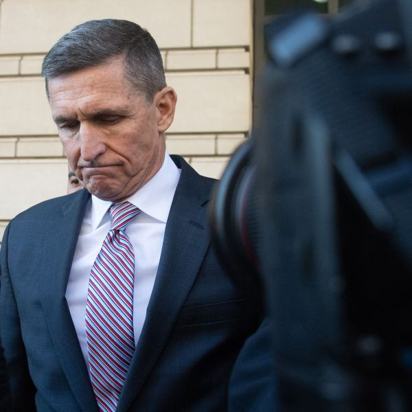 Michael Flynn leaves court after a judge delayed his sentencing hearing in Washington, D.C. on Dec. 18, 2018. (Credit: SAUL LOEB/AFP/Getty Images)