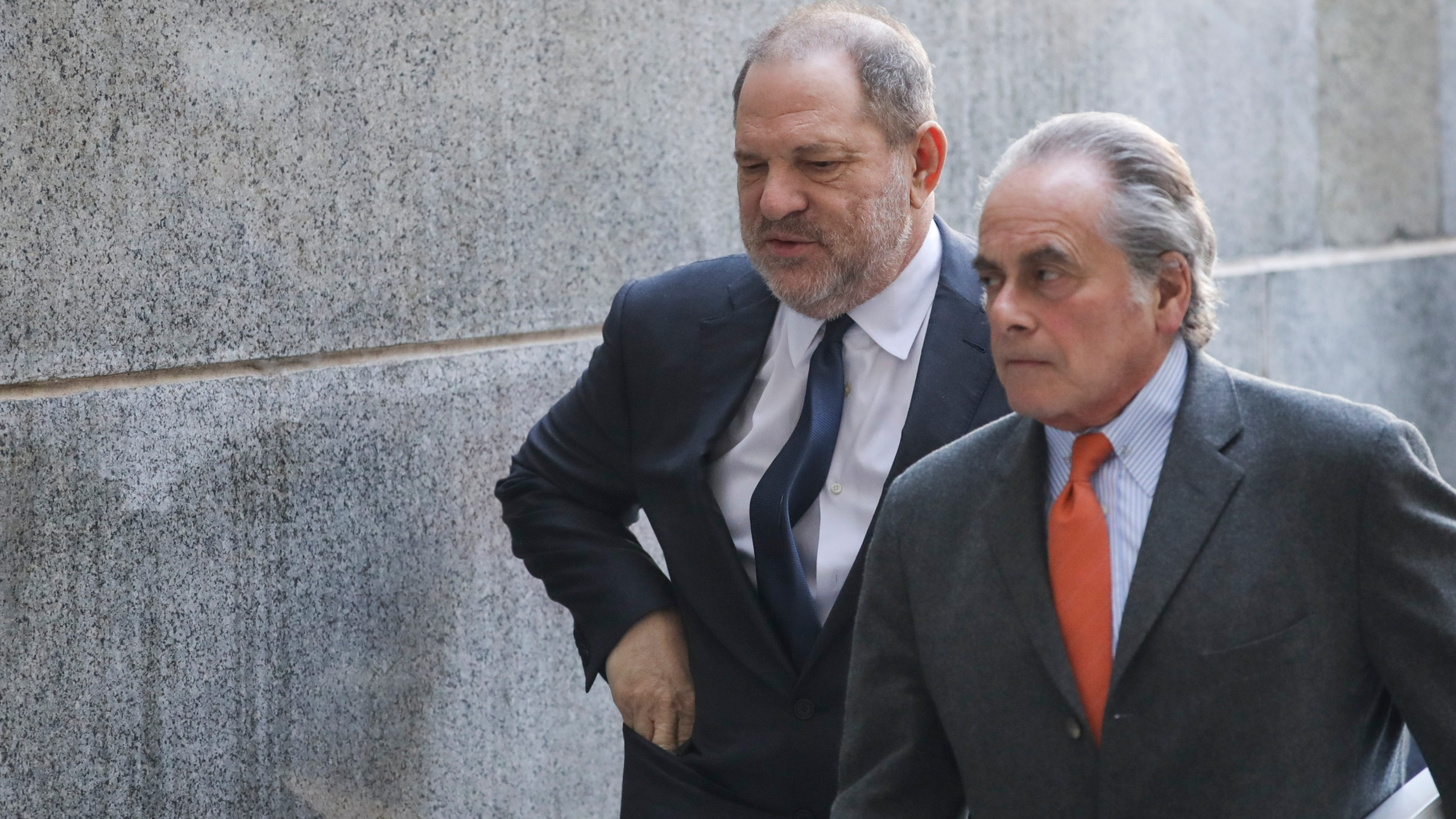 Harvey Weinstein arrives with his lawyer Ben Brafman for a court hearing at New York Criminal Court on Dec. 20, 2018. (Credit: Drew Angerer/Getty Images)