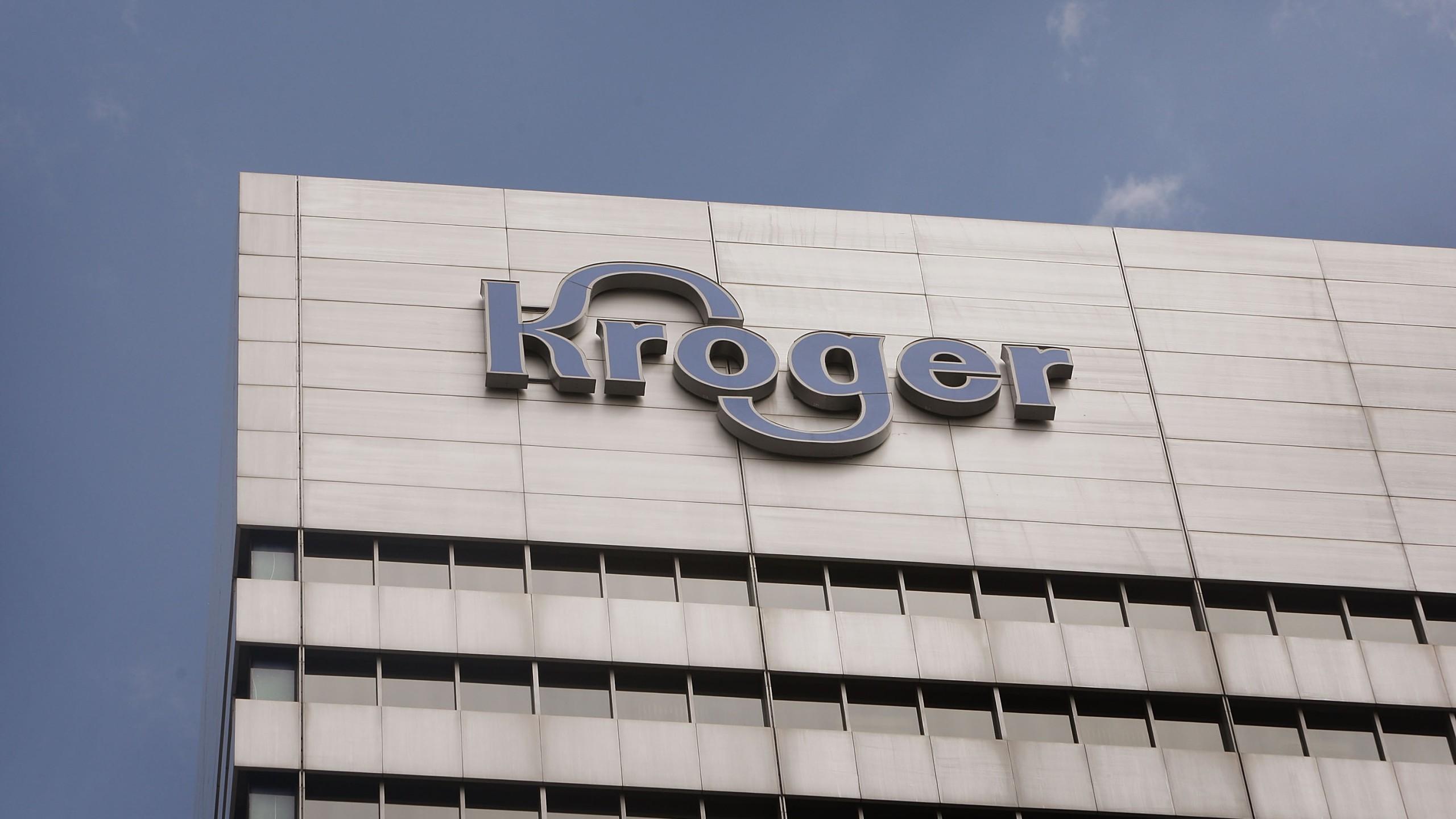 The Kroger Co. corporate headquarters is seen July 15, 2008, in downtown Cincinnati, Ohio. (Credit: Scott Olson/Getty Images)