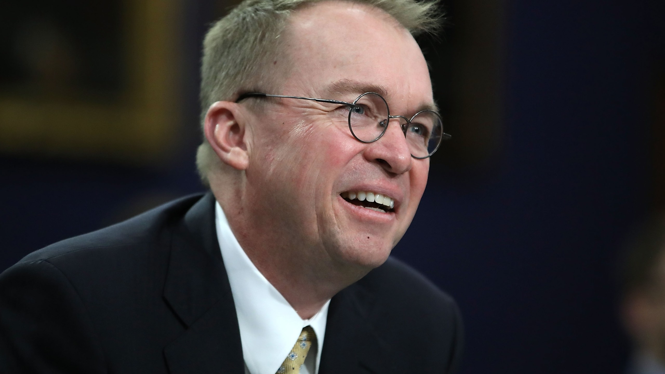 Mick Mulvaney testifies during a House Appropriations Committee hearing on Capitol Hill on April 18, 2018 in Washington, D.C. (Credit: Mark Wilson/Getty Images)
