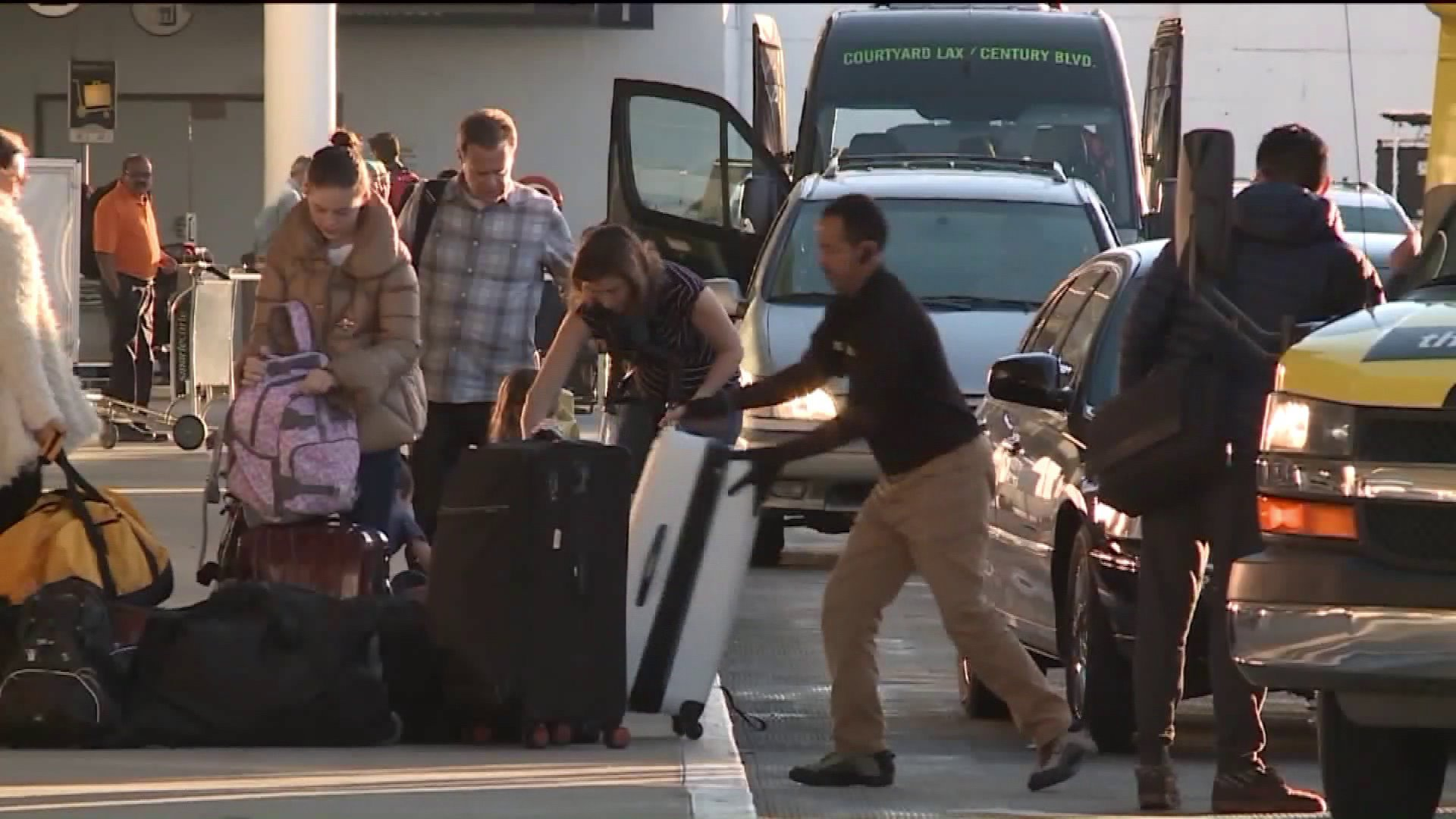Holiday travelers head out of Los Angeles from LAX on Dec. 26, 2018.