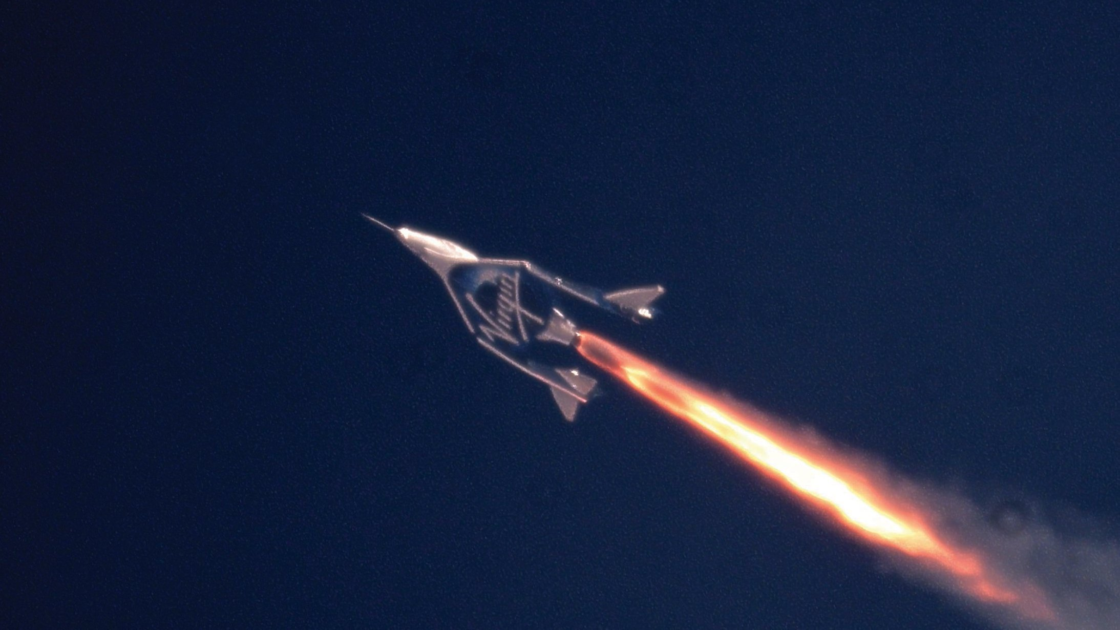 Virgin Galactic posted this image of a spacecraft on its website.