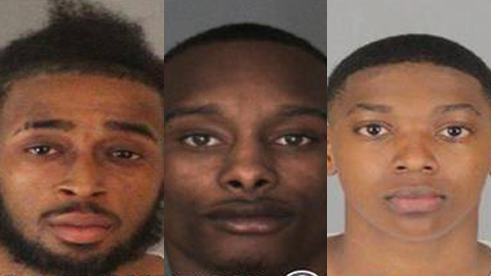 From left: Dashon Raymond White, 24; Daeon Raishawn Cox, 19; and Jada Shardae Allen, 18, are seen in photos released by Riverside police on Dec. 14, 2018.