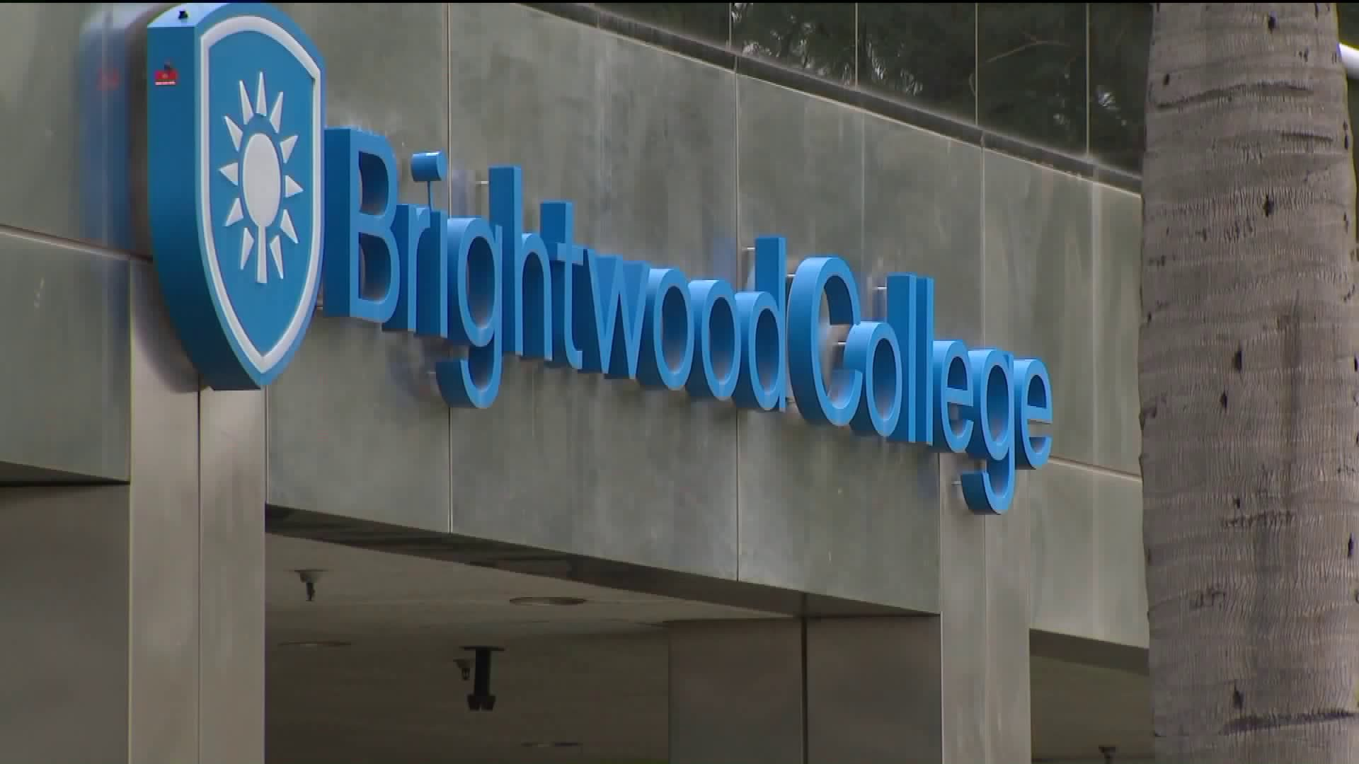 Brightwood College in Van Nuys is seen on Wednesday, Dec. 6, 2018, the day the school abruptly shut down. (Credit: KTLA)