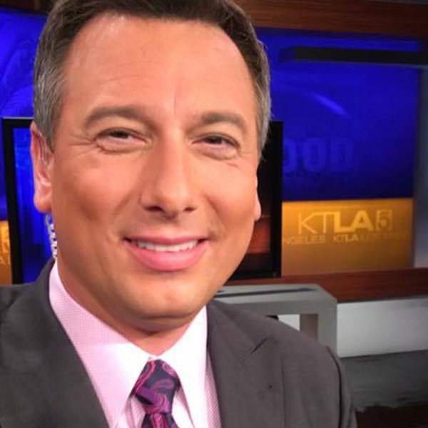 KTLA anchor and reporter Chris Burrous is seen in a photo posted to his Facebook page on July 28, 2016.