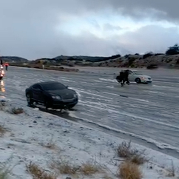 A multi-vehicle crash closed the northbound side of the Cajon Pass at Oak Hill Road on Dec. 25, 2018. (Credit: Victor Valley News)